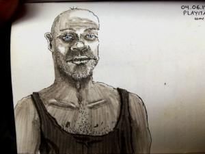 Travel Sketching of a Man