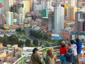 View of La Paz, Bolivia.